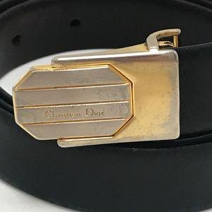 Vintage Christian Dior Gold Reversible Leather